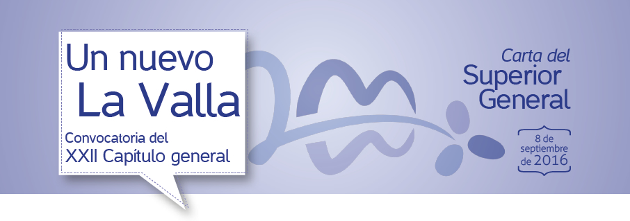 Convocatoria del XXII Capítulo general - Carta del Superior General